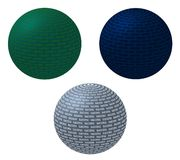 3D Balls - success. 3D balls in the different colours with notice - success Royalty Free Stock Photos