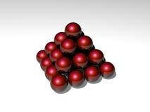 3d balls on white Stock Image