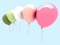 3d balonu przyjęcie Zdjęcia Royalty Free