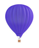3d baloon. 3d render of blue balloon on white Stock Photography