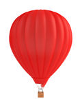 3d baloon. 3d render of red balloon on white Royalty Free Stock Photos