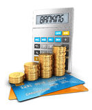 3d banking concept Royalty Free Stock Image