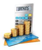 3d bankwezenconcept Royalty-vrije Stock Afbeelding