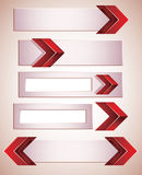 3d banners with red arrows. Stock Photos