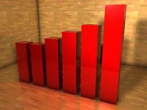 3d bar chart Stock Images
