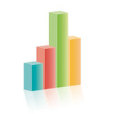 3d bar graph Royalty Free Stock Photo