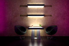 3d bar intimate atmosphere - interior design Stock Images