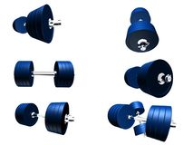 3d barbells Stock Images