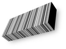 3d barcode. 3d illustration of bar code Stock Photo