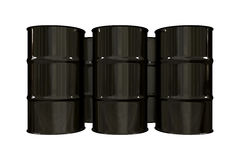 3d barrels svart olja stock illustrationer
