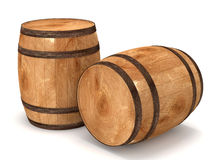3d Barrels on white background. 3d Image Royalty Free Stock Photography