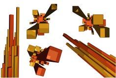 3d bars vector Royalty Free Stock Photos