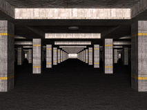 3D basement car park Royalty Free Stock Image