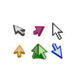 3D and basic cursor arrow Royalty Free Stock Photos