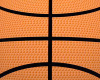 3d basket ball. Creative abstract orange background Stock Photography