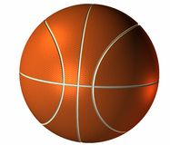 3d basket ball isolated on a white Royalty Free Stock Photos
