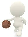 3D basket ball player Royalty Free Stock Photography