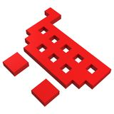 3d basket pixel icon Stock Photo