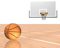 3d basketball. With white background Stock Photography