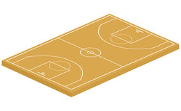 3D basketball court. On a white background. Vector illustration Stock Image