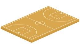 3D basketball court Stock Image