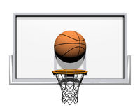 3d basketball isolated on a white. Background Stock Photo