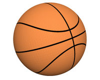 3d basketball isolated on a white Royalty Free Stock Photos