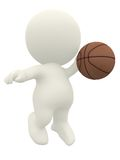 3D basketball player Stock Photos