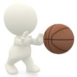 3D Basketball player Stock Image