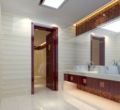 3d bathroom Stock Photography