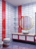 3d bathroom rendering. 3d rendering of the modern bathroom Stock Images