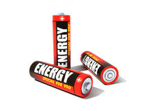 3d batteries Royalty Free Stock Image