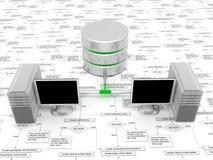 3d baza danych Obrazy Stock