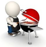 3D BBQ Royalty Free Stock Image
