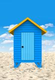 3D Beach hut Stock Image
