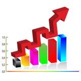 3d Bedrijfsdiagram. Vector Stock Foto's