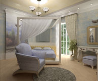 3D bedroom Royalty Free Stock Photography