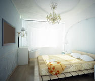 3d bedroom Royalty Free Stock Photo