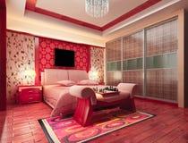 3d bedroom rendering Stock Photo