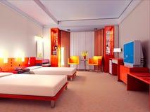 3d bedroom rendering Stock Photography