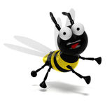 3D bee. Isolated 3D bee with honey Royalty Free Stock Photography