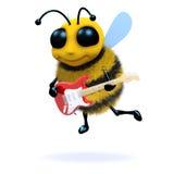 3d Bee guitarist royalty free illustration