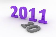 3D Beeld van 2011 (Purple) Royalty-vrije Stock Foto