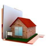 3D beelden van uw huisomslag. Stock Fotografie