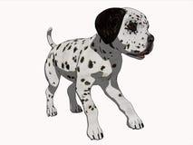 3D Beeldverhaal geeft Puppy Dalmation terug Royalty-vrije Stock Foto