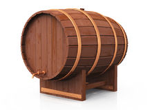 3D beer barrel 12. A beer barrel on white background stock illustration