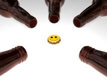 3D Beer Bottles Stock Photography