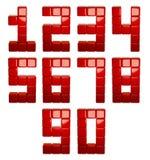 3d berechnet der Zahlen stock abbildung