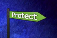 3d bescherm tekens Royalty-vrije Stock Afbeelding