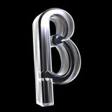 3D Beta symbol in glass. On black Royalty Free Stock Image